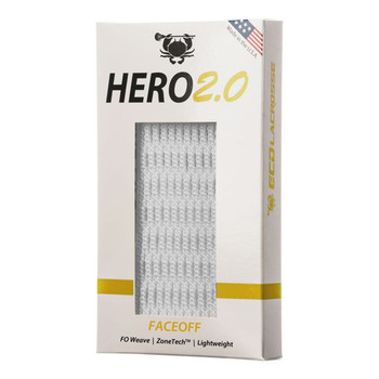 East Coast Dyes Hero 2.0 Face-off Lacrosse Mesh - White