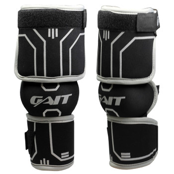 Gait Icon Senior Lacrosse Elbow Guards - Black, Gray