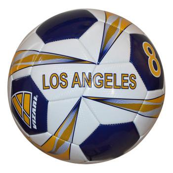 Vizari Los Angeles Soccer Ball - White, Blue, Yellow