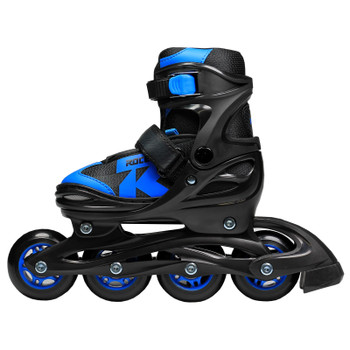 Roces Jokey 2.0 Boy's Adjustable Inline Hockey Skates - Black, Astro Blue