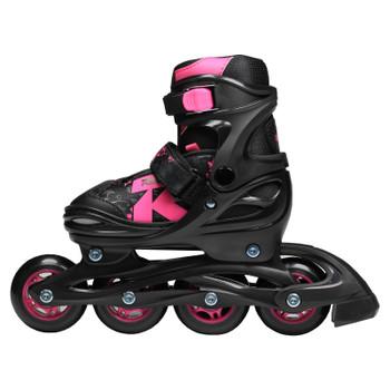 Roces Jokey 2.0 Girl's Adjustable Inline Hockey Skates - Black, Pink