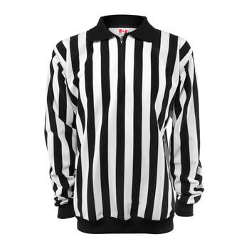 CCM PRO 150 Senior Hockey Referee Shirt - Black, White