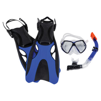 Leader Montego Bay Adult Swimming Super Kit - Blue, Black