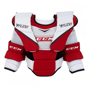 CCM YTFlex 2 Arm & Body Youth Hockey Goalie Set - White, Red