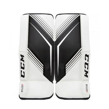 CCM YTFlex 2 Youth Hockey Goalie Leg Pads - White, Black