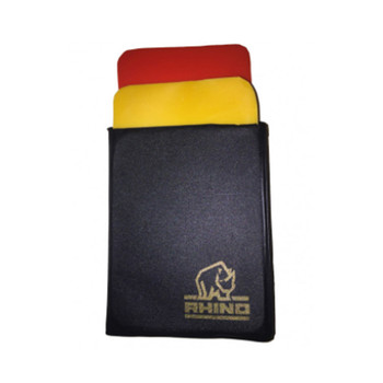 Rhino Rugby Referee Wallet with Cards - Black