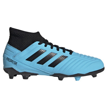 Adidas Predator 19.3 FG Junior Soccer Cleats G25796 - Cyan, Black