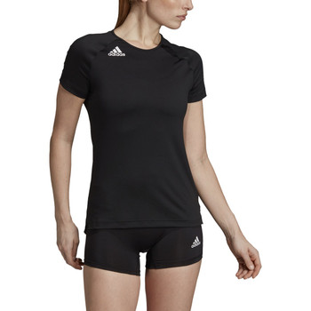 Adidas HILO Women's Short Sleeve Volley Jersey DP4342 - Black, White