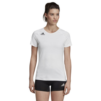 Adidas HILO Women's Short Sleeve Volley Jersey DP4343 - White, Black