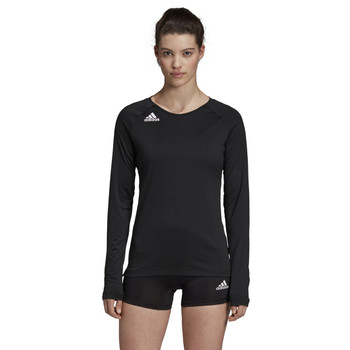 Adidas HILO Women's Long Sleeve Volley Jersey DX0887 - Black