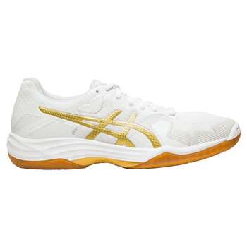 Asics Gel-Tactic Women's Volleyball Shoes - White, Gold