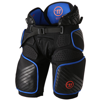 Warrior Covert QRE Pro Senior Hockey Girdle - Black, Blue, Orange