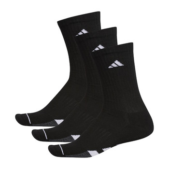 Adidas Cushioned II Men's Crew Socks 3-Pack - Black, White, Onix