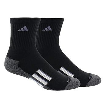 Adidas Cushioned X II Men's Mid-Crew Socks 2-Pack - Black, White, Onix