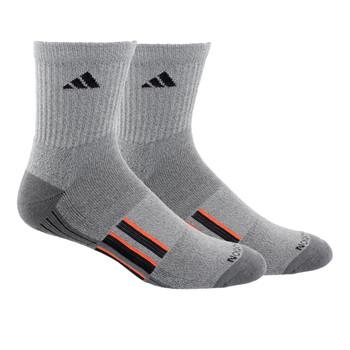 Adidas Cushioned X II Men's Mid-Crew Socks 2-Pack - Onix, Black, Orange
