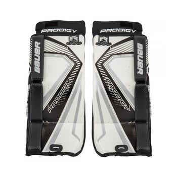 Bauer S17 Prodigy 3.0 Youth Hockey Goalie Leg Pads - White, Black
