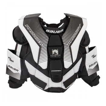 Bauer S17 Prodigy 3.0 Youth Hockey Goalie Chest & Arm Pads - Black, White