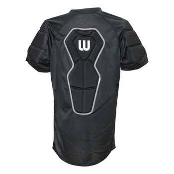Winnwell Basic Senior Padded Roller Hockey Shirt - Black, White