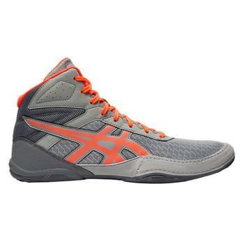 Asics Matflex GS Junior Wrestling Shoes - Grey, Coral