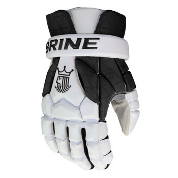 Brine King Superlight 3 Lacrosse Gloves - Black, White