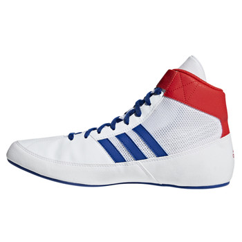 Adidas HVC 2 Adult Wrestling Shoes BD7129 - White, Red, Blue