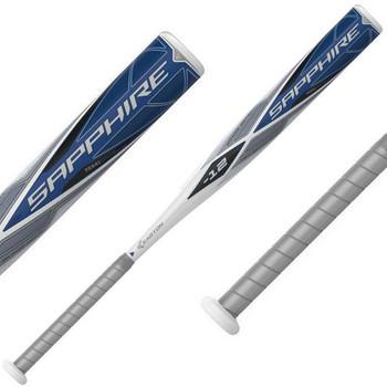 Easton Sapphire -12 Fastpitch Softball Bat - White, Blue, Gray