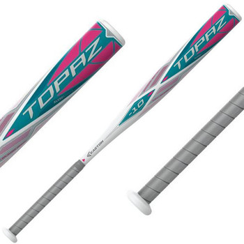 Easton Topaz -10 Fastpitch Softball Bat - White, Teal, Pink