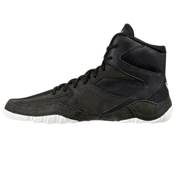 Asics Mat Control Adult Wrestling Shoes - Black, White