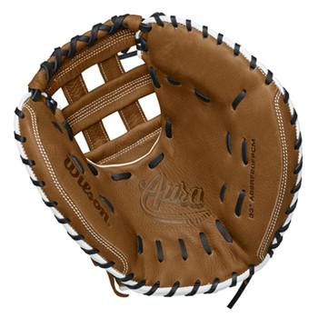 """Wilson Aura 20 33"""" Catcher's Fastpitch Softball Glove - RH Throw"""