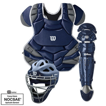 Wilson C1K NOCSAE Adult Baseball Catcher's Gear Kit - Various Colors