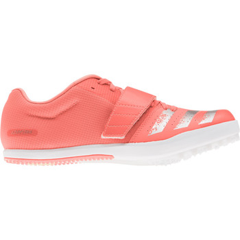 Adidas Jumpstar Adult Track & Field Shoes EE4672 - Coral, Silver, White