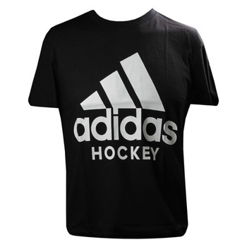 Adidas Badge of Sport Adult Hockey Tee Shirt - Black