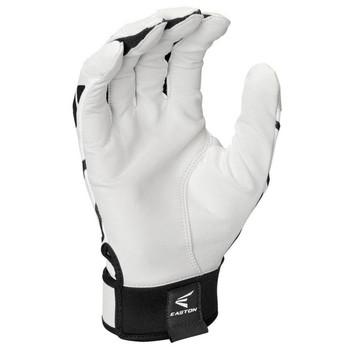 Easton Gametime Senior Baseball Batting Gloves - White, Black