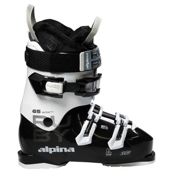 Alpina Ruby 65 Heated Women's Heated Ski Boots - Black, White