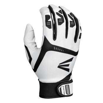 Easton Gametime Youth Tee-Ball Batting Gloves - White, Black