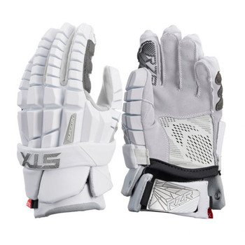 STX Surgeon RZR Senior Lacrosse Gloves - White