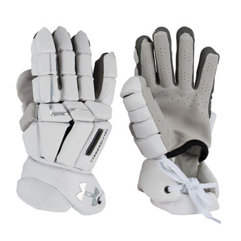 Under Armour Command Pro 3 Lacrosse Goalie Gloves - White