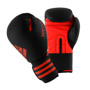 Adidas Hybrid 50 Boxing Gloves - Black, Red