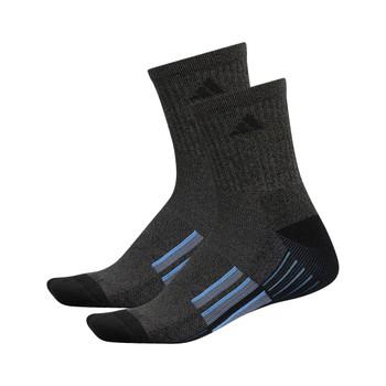 Adidas Cushioned X II Men's Mid-Crew Socks 2-Pack - Black, Graphite