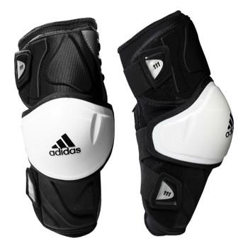 Adidas 111 Senior Lacrosse Arm Guards - Black, White
