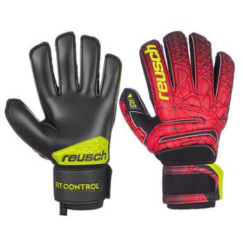Reusch Fit Control R3 Soccer Goalie Gloves - Red, Black, Yellow