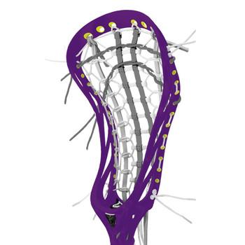 Brine Mantra III Limited Edition Women's Strung Lacrosse Head - Purple, Yellow