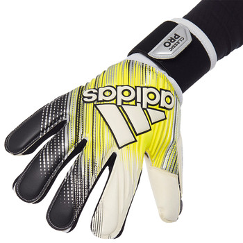 Adidas Classic Pro Soccer Goalie Gloves DY2631 - Black, Solar Yellow, White