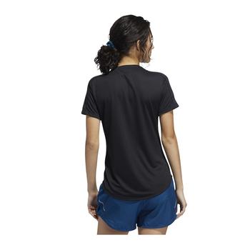 Adidas Run It 3 Stripe Tee FR8400 - Black Back View
