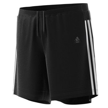 "Adidas 3 Stripe 7"" Shorts DM1666 - Black, White"