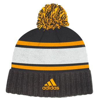 Adidas Boston Bruins Cuffed Knit Pom Hat