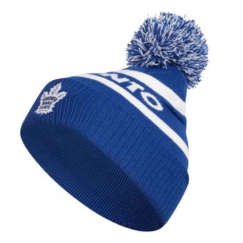 Adidas Toronto Maple Leafs Cuffed Knit Pom Hat