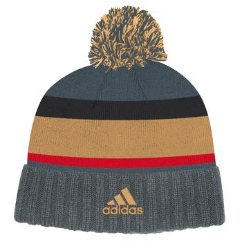 Adidas Las Vegas Golden Knights Cuffed Knit Pom Hat