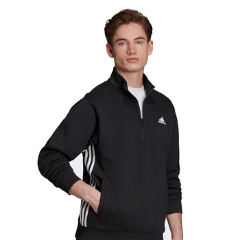Adidas Must Haves 3 Stripe Men's Track Jacket EB5280 - Black, White