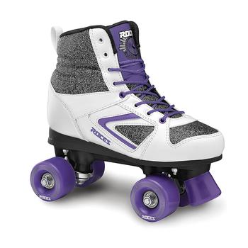 Roces Kolossal Women's Street Roller Skates - Glitter, White, Purple